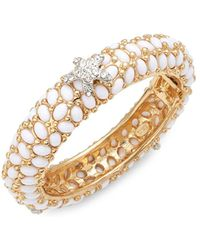 Kenneth Jay Lane - Faux Pearl & Crystal Starfish Bracelet - Lyst