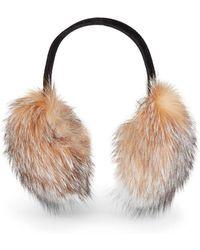 Saks Fifth Avenue - Fox Fur Earmuffs - Lyst