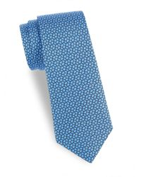 Saks Fifth Avenue - Printed Silk Tie - Lyst