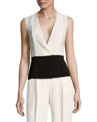 Narciso Rodriguez - Cutout V-neck Top - Lyst