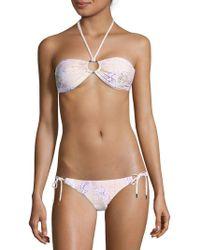 Melissa Odabash - Two-piece Animal-print Halter Bikini - Lyst