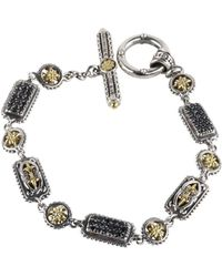 Konstantino - Asteri Triple Pavé Black Diamond, Crystal And Sterling Silver Bracelet - Lyst