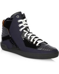 Bally High-top Leather Trainers - Gray