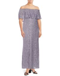 Marina - Off-the-shoulder Popover Dress - Lyst