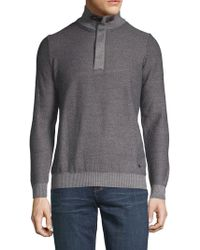 Bugatti - Elbow Patch Turtleneck Sweater - Lyst