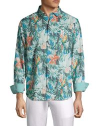 Tommy Bahama - Printed Linen Blend Button-down Shirt - Lyst