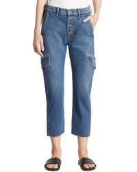 Vince - Drop Slouch Cargo Jeans - Lyst