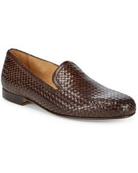Saks Fifth Avenue - Woven Leather Loafers - Lyst