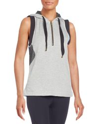 Alala - Mesh-trimmed Fleece Hooded Vest - Lyst