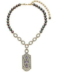 Heidi Daus - Dent Desire Faux Pearl & Crystal Drop Pendant Necklace - Lyst