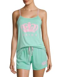 Juicy Couture - Two-piece Graphic Tank Top And Shorts Set - Lyst