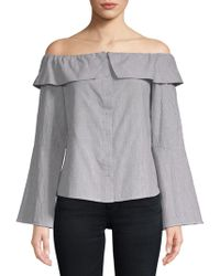Lovers + Friends - Jane Cotton Off-the-shoulder Blouse - Lyst
