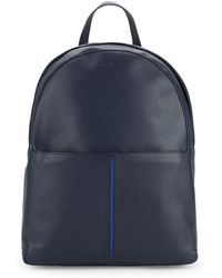 Bugatchi - Top Zip Leather Backpack - Lyst