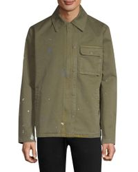 Hudson Jeans - Paint Splattered Military Jacket - Lyst