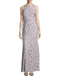 JS Collections - Lace Overlay Sleeveless Dress - Lyst