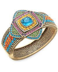 Heidi Daus - Crystal Art Deco Bangle Bracelet - Lyst
