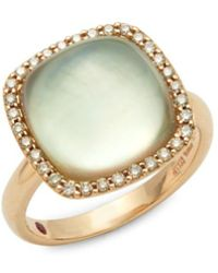 Roberto Coin - Brown Diamond, Prasolite And 18k Rose Gold Cocktail Ring - Lyst