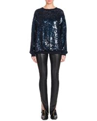 Stella McCartney - Silk Sequin Sweatshirt - Lyst