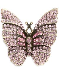 Heidi Daus - Crystal Butterfly Brooch - Lyst