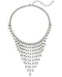 DANNIJO - Hallsy Crystal Fringe Bib Necklace - Lyst