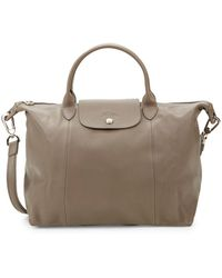Longchamp - Le Pliage Leather Tote - Lyst