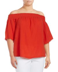 RACHEL Rachel Roy - Plus Smock Bell Off-the-shoulder Top - Lyst