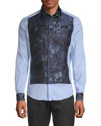Valentino - Spread Collar Button-down Shirt - Lyst