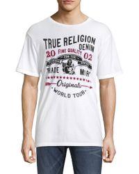 True Religion - Graphic Cotton Tee - Lyst