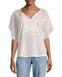 August Silk - Batwing-sleeve Crochet Top - Lyst