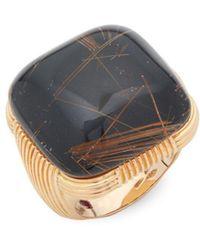 Roberto Coin - Black Onyx And 18k Rose Gold Ring - Lyst
