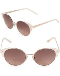 Ted Baker - 51mm Wing Oval Sunglasses - Lyst