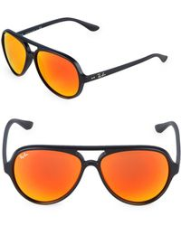 Ray-Ban - 59mm Cats 5000 Mirrored Sunglasses - Lyst
