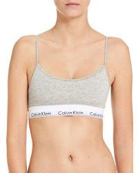 Calvin Klein - Modern Cotton Skinny Strap Bralette - Lyst