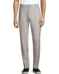 Saks Fifth Avenue - Textured Linen Trousers - Lyst