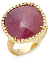 Marco Bicego - Pink Sapphire, Diamond And 18k Gold Statement Ring - Lyst