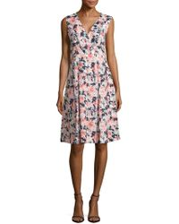 Lafayette 148 New York - Junette Linen Floral Printed Dress - Lyst