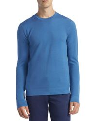 Saks Fifth Avenue - Collection Tech Merino Wool Crewneck Sweater - Lyst