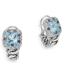 John Hardy - Blue Topaz & Sterling Silver Earrings - Lyst