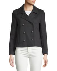 Zadig & Voltaire - Maili Double-breasted Peacoat - Lyst