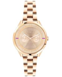 Furla - Metropoli Rose Gold Stainless Steel Watch - Lyst