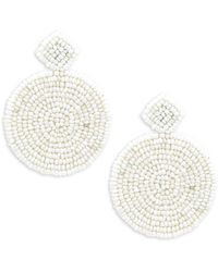 Kenneth Jay Lane - Beaded Round Drop Earrings - Lyst