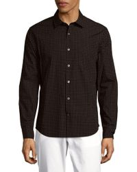 Vince - Printed Cotton Button-down Shirt - Lyst