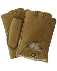 UGG - Mckay Fingerless Shearling-lined Leather Driving Gloves - Lyst