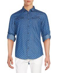 Calvin Klein Jeans - Printed Denim Western Shirt - Lyst