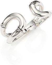 John Hardy - Bamboo Sterling Silver Cuff Bracelet - Lyst