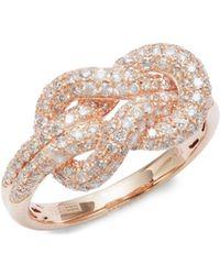Effy - Diamond, 14k Gold And 14k Rose Gold Ring - Lyst