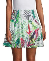 Parker - Paradise Smocked Cotton Skirt - Lyst