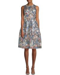 Alexia Admor | Embroidered Sequin Fit-and-flare Dress | Lyst