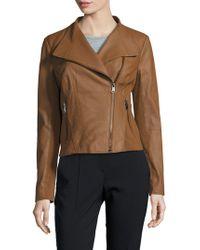 Marc New York - Felix Leather Moto Jacket - Lyst