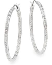 Swarovski - Ready Crystal Oval Hoop Earrings - Lyst